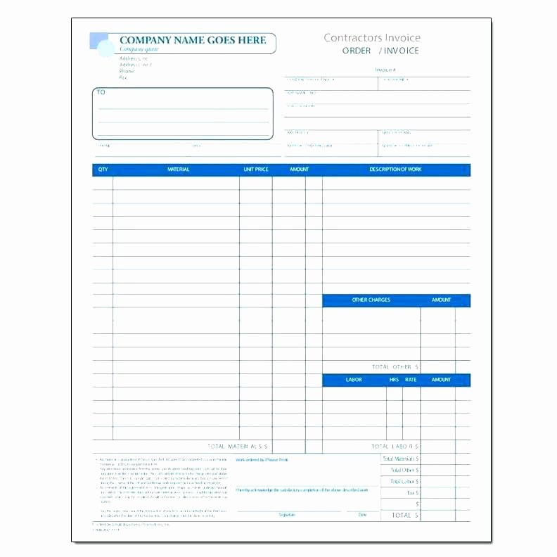 General Contractor Invoice Template Unique General Contractor Bid Sheet Sample Construction forms 8