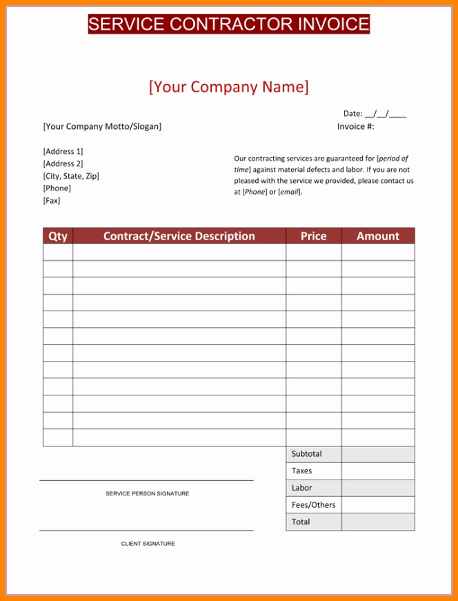 General Contractor Invoice Template Unique General Contractor Invoice Sample Five Things Nobody told