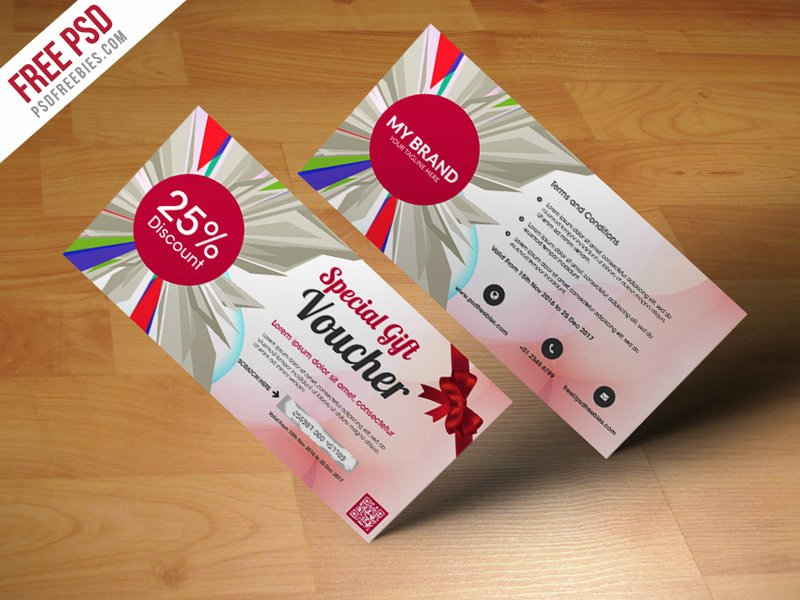 Gift Card Template Psd Awesome 25 Creative Gift Voucher Card Templates Designazure