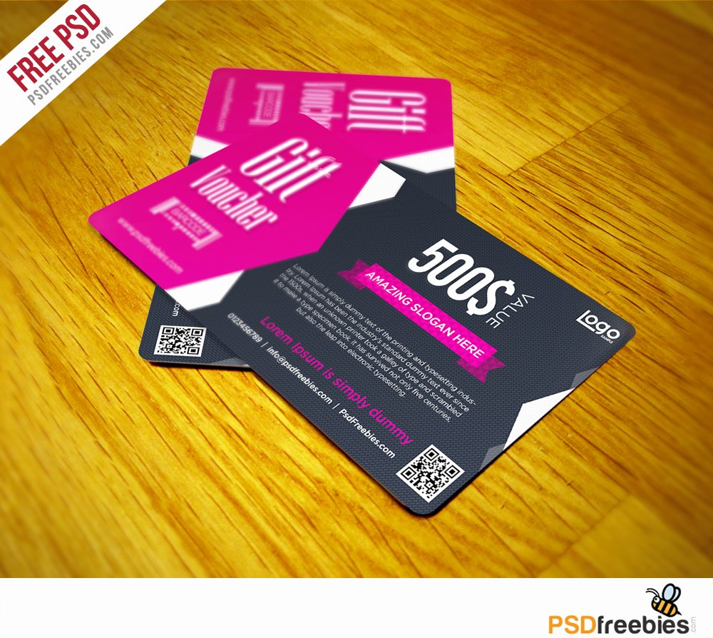 Gift Card Template Psd Awesome Clean and Modern Gift Voucher Template Psd Psdfreebies
