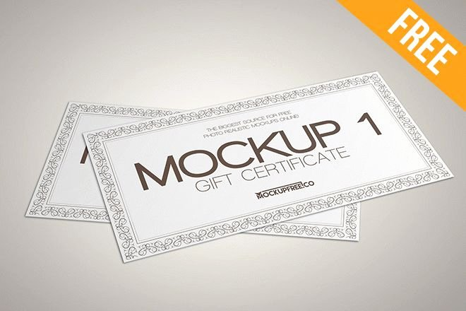 Gift Card Template Psd Awesome Gift Card Mockup Psd Free