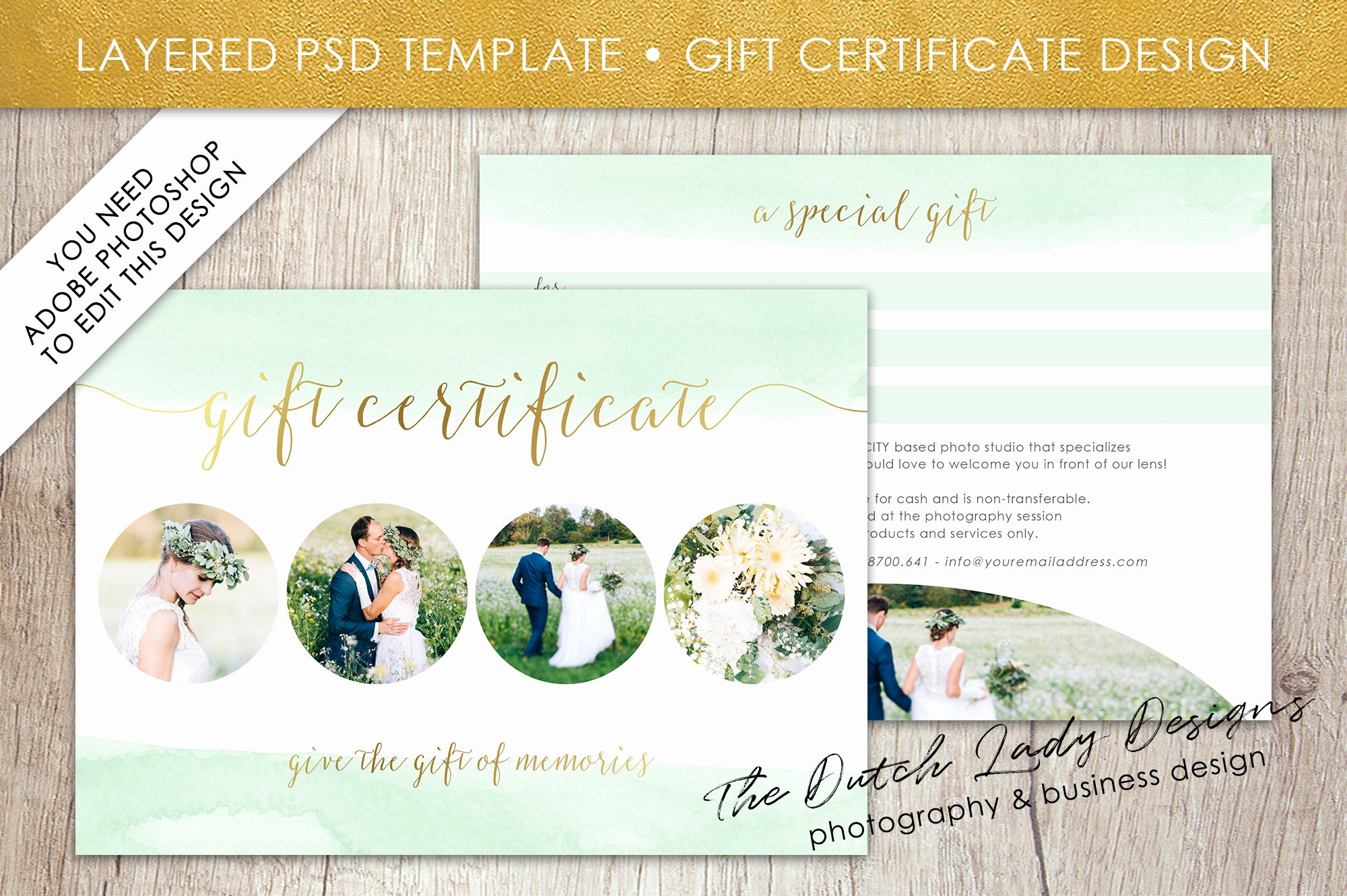 Gift Card Template Psd Beautiful Psd Gift Certificate Card Template Graphic by
