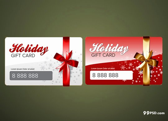 Gift Card Template Psd Best Of Free Christmas Gift Cards