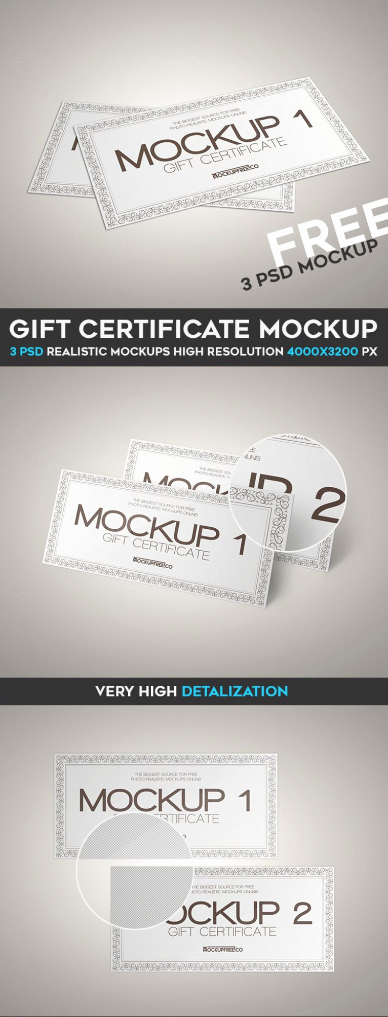 Gift Card Template Psd Best Of Gift Certificate Psd Mockup Templates Wooskins