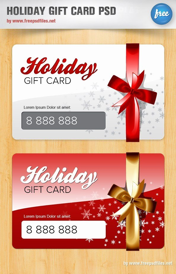 Gift Card Template Psd Best Of Holiday Gift Card Psd Template Free Psd Files