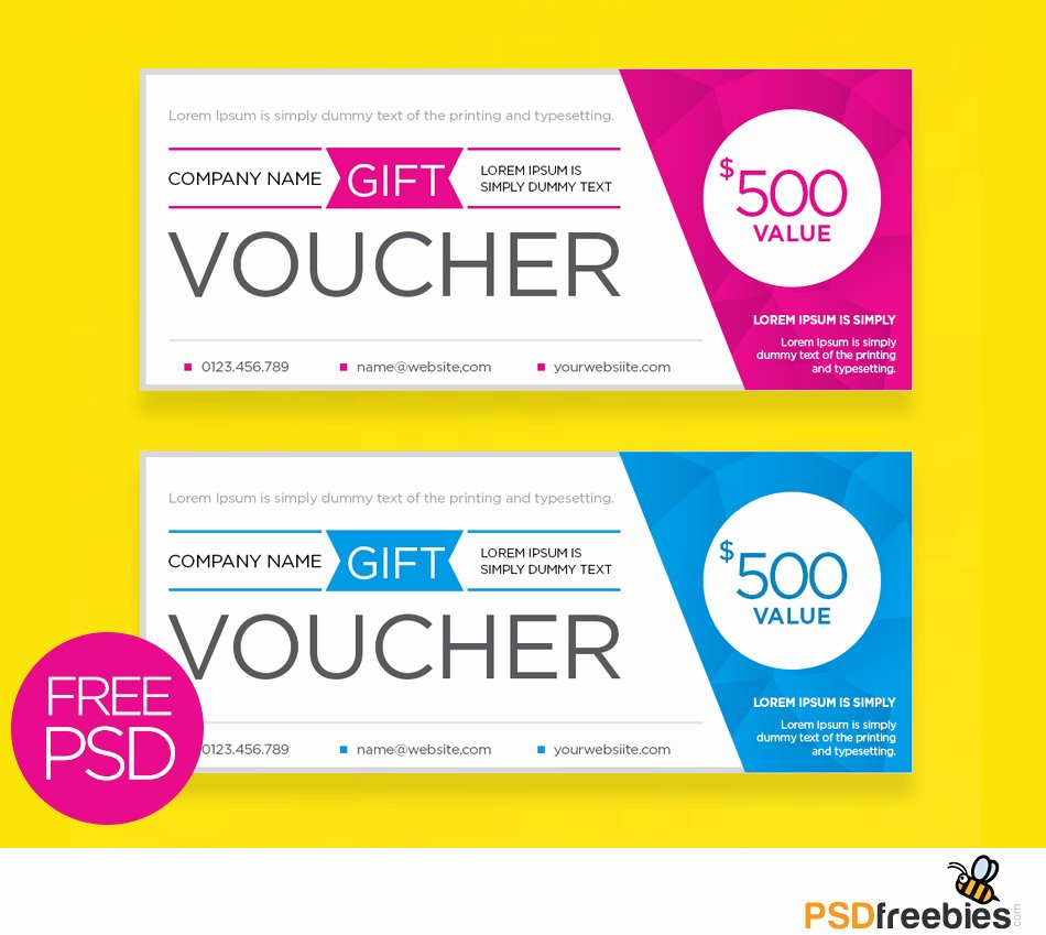 Gift Card Template Psd Elegant Clean and Modern Gift Voucher Template Psd Psdfreebies