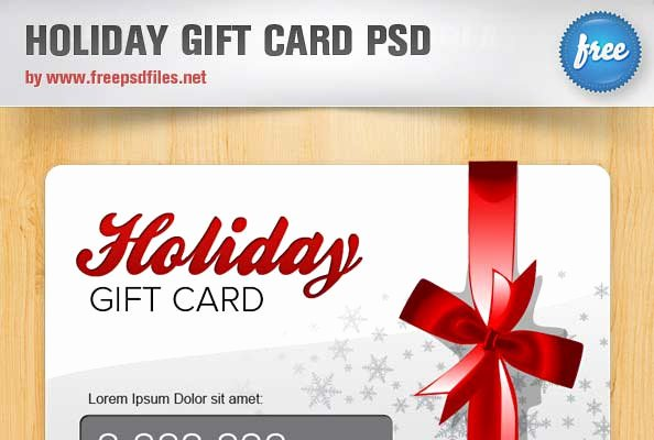 Gift Card Template Psd Inspirational 10 Christmas Free Psd Free Christmas