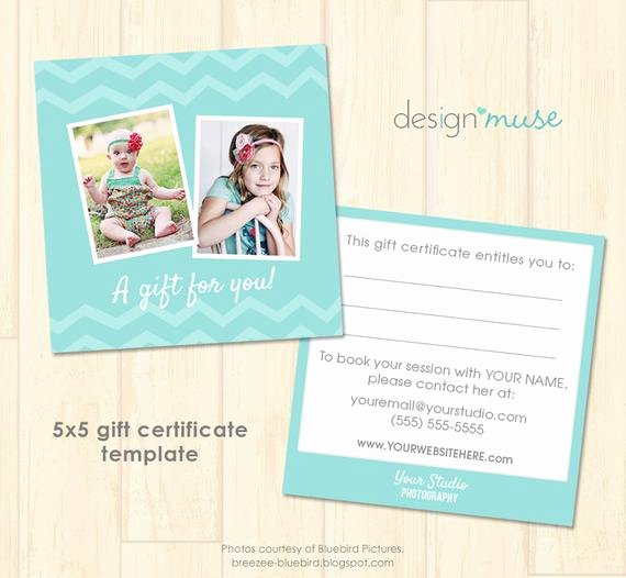 Gift Card Template Psd Lovely Free Graphy Gift Certificate Template Psd