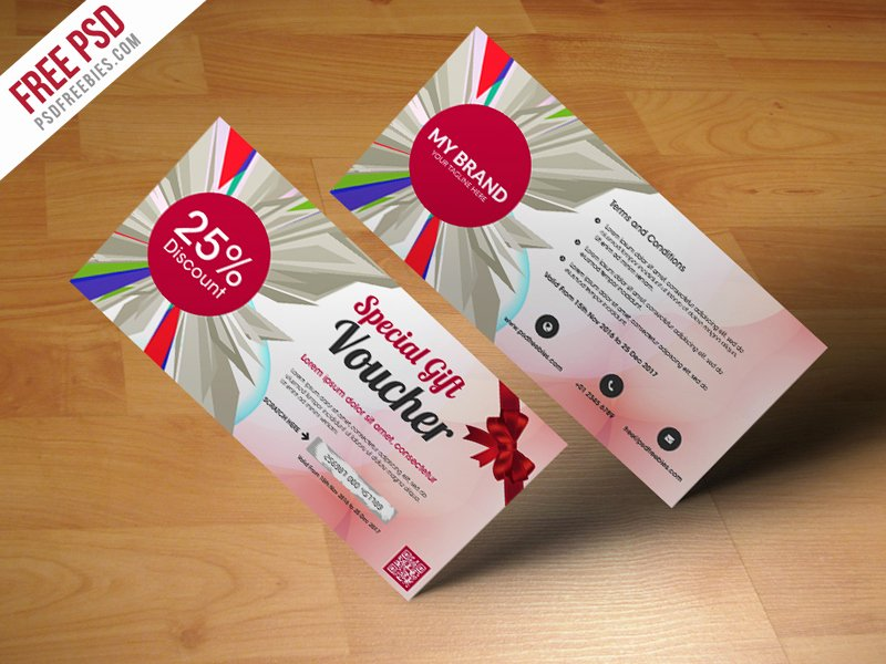 Gift Card Template Psd Luxury Freebie Multiuse Gift Voucher Template Free Psd by Psd