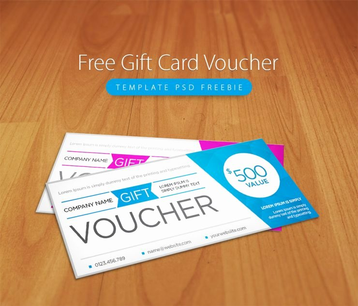 Gift Card Template Psd New Free Gift Card Voucher Template Psd Freebie Download Psd