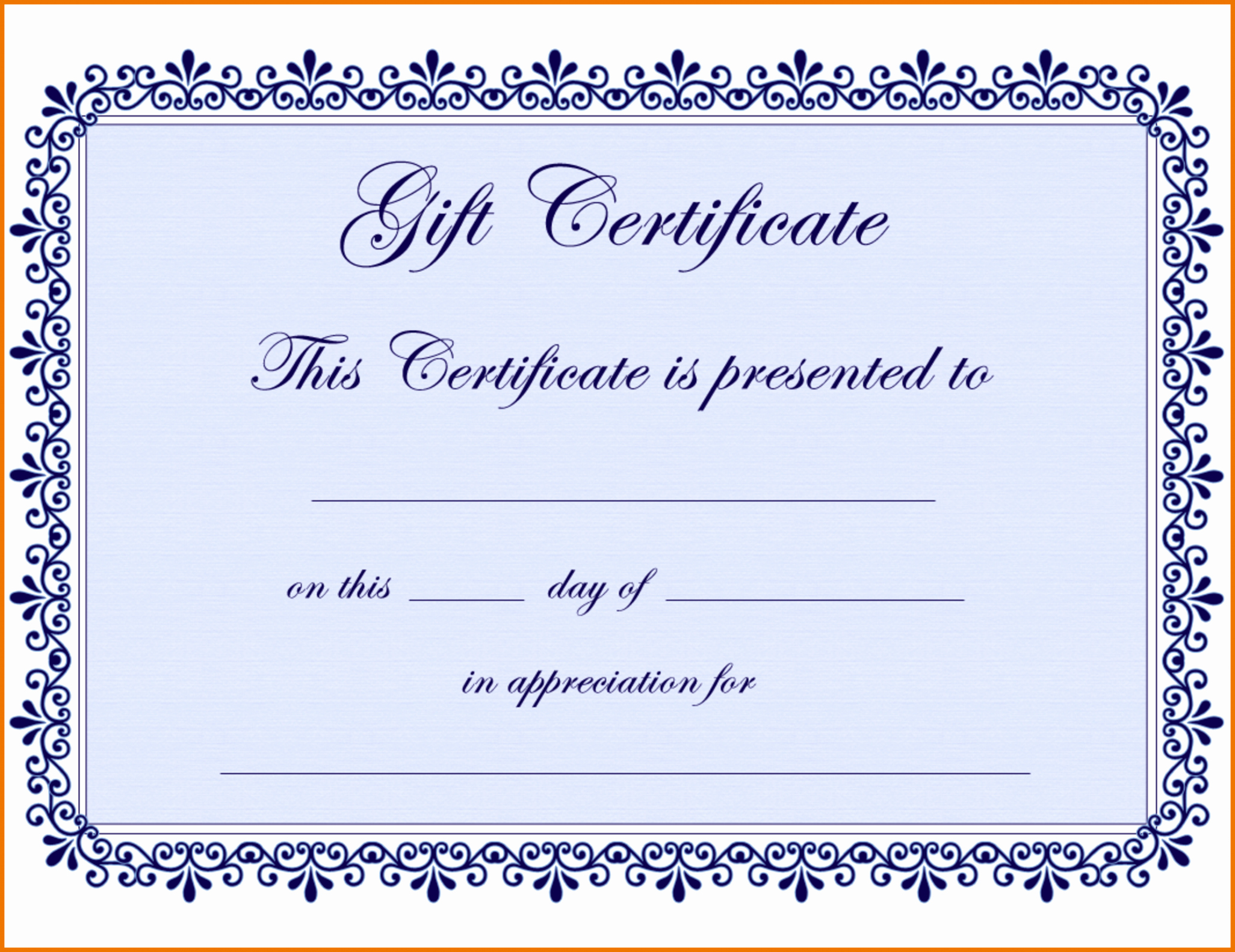 Gift Certificate Template Word Free Awesome Free Gift Certificate Template Pages Sample