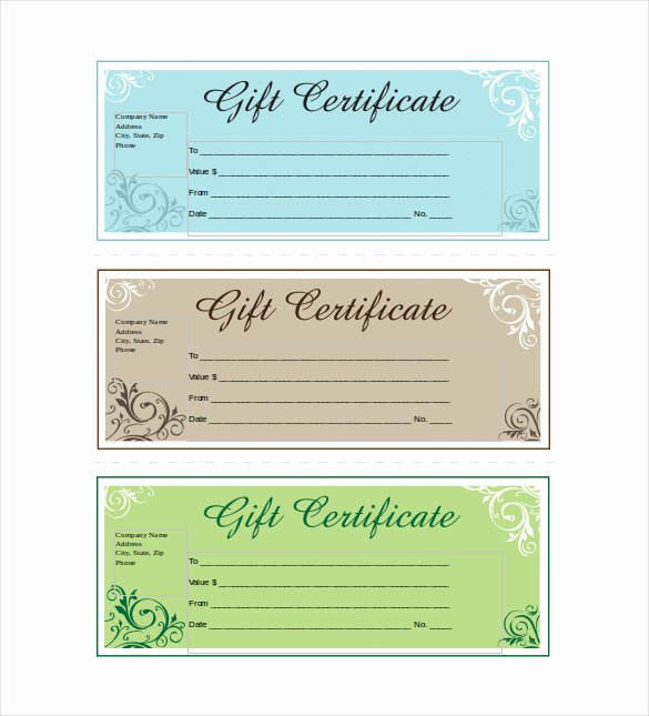 Gift Certificate Template Word Free Beautiful 14 Business Gift Certificate Templates Free Sample