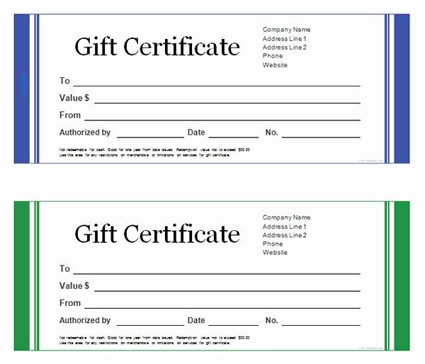 Gift Certificate Template Word Free Elegant Gift Certificate Template Word