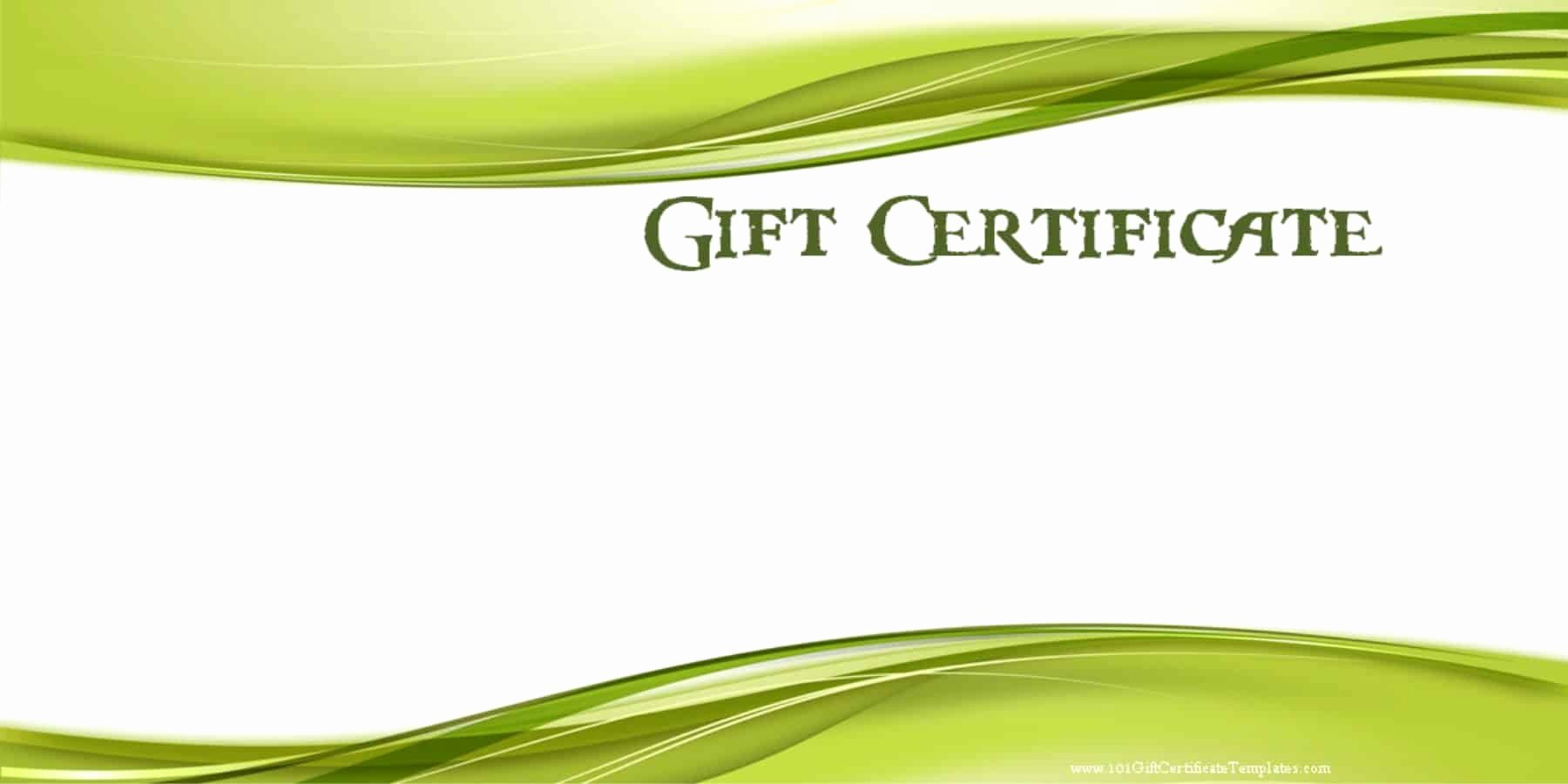 Gift Certificate Template Word Free Fresh Printable Gift Certificate Templates