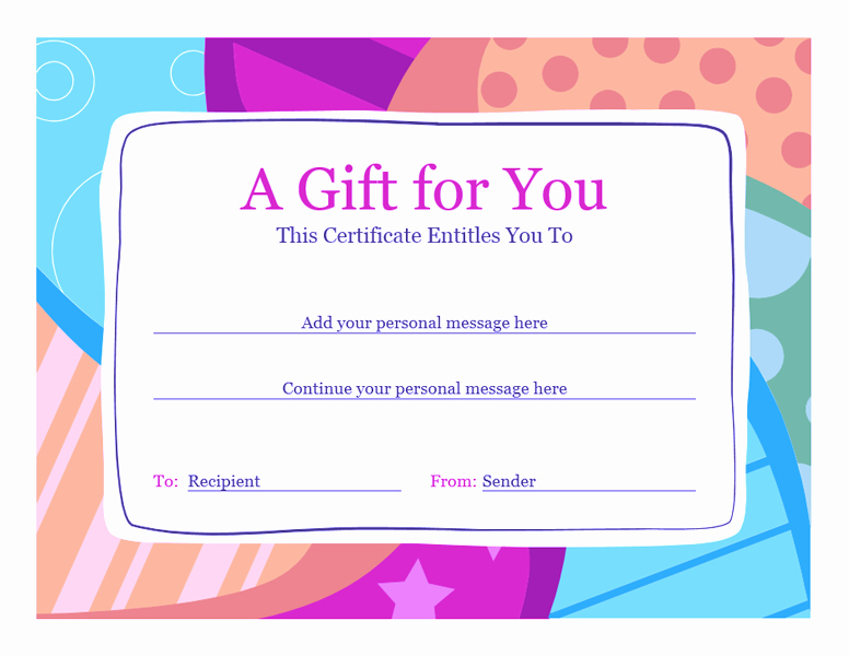 Gift Certificate Template Word Free Inspirational Birthday Gift Certificate Template Word 2010 02