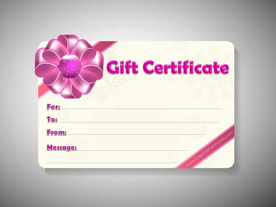 Gift Certificate Template Word Free Inspirational Free Gift Certificate Template