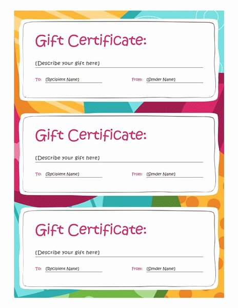 Gift Certificate Template Word Free Lovely 25 Best Ideas About Gift Certificates On Pinterest