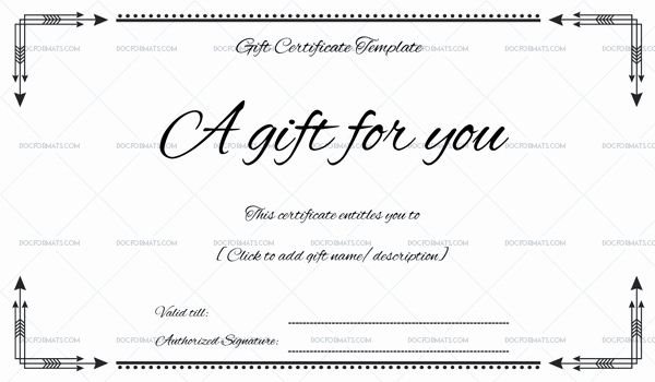 Gift Certificate Template Word Free Lovely Business Gift Certificate Word – Doc formats