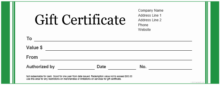 Gift Certificate Template Word Free Luxury Custom Gift Certificate Templates for Microsoft Word