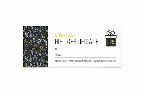 Gift Certificate Template Word Free Luxury Gift Certificate Templates Microsoft Word & Publisher