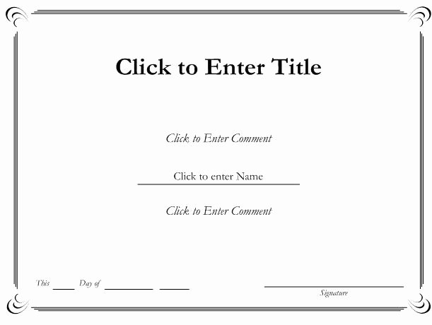 Gift Certificate Template Word Free Luxury Ms Word Printable Certificate Templates
