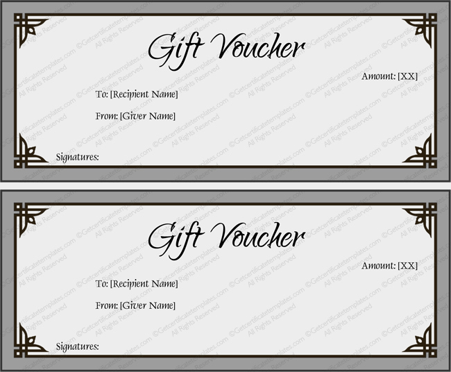 Gift Certificate Template Word Free New Gift Voucher Template Simplay Gray and Beautiful Design