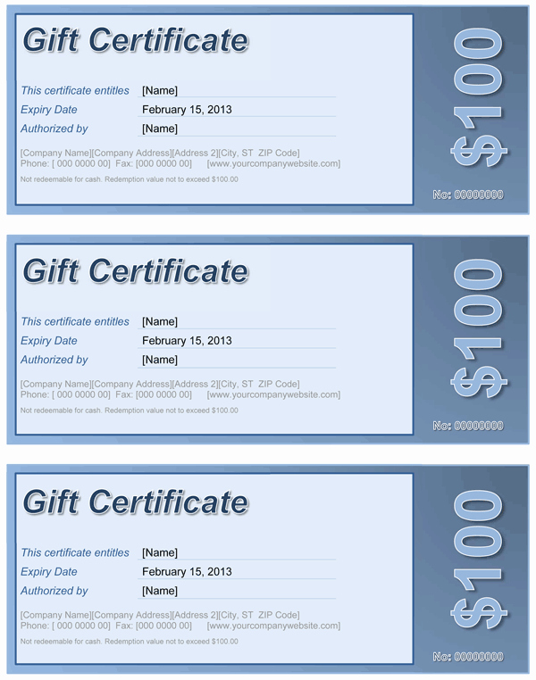 Gift Certificate Template Word Free Unique Gift Certificate