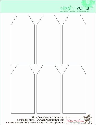 Gift Tag Template Microsoft Word Elegant Blank Tag Printable Printables Gift Tags