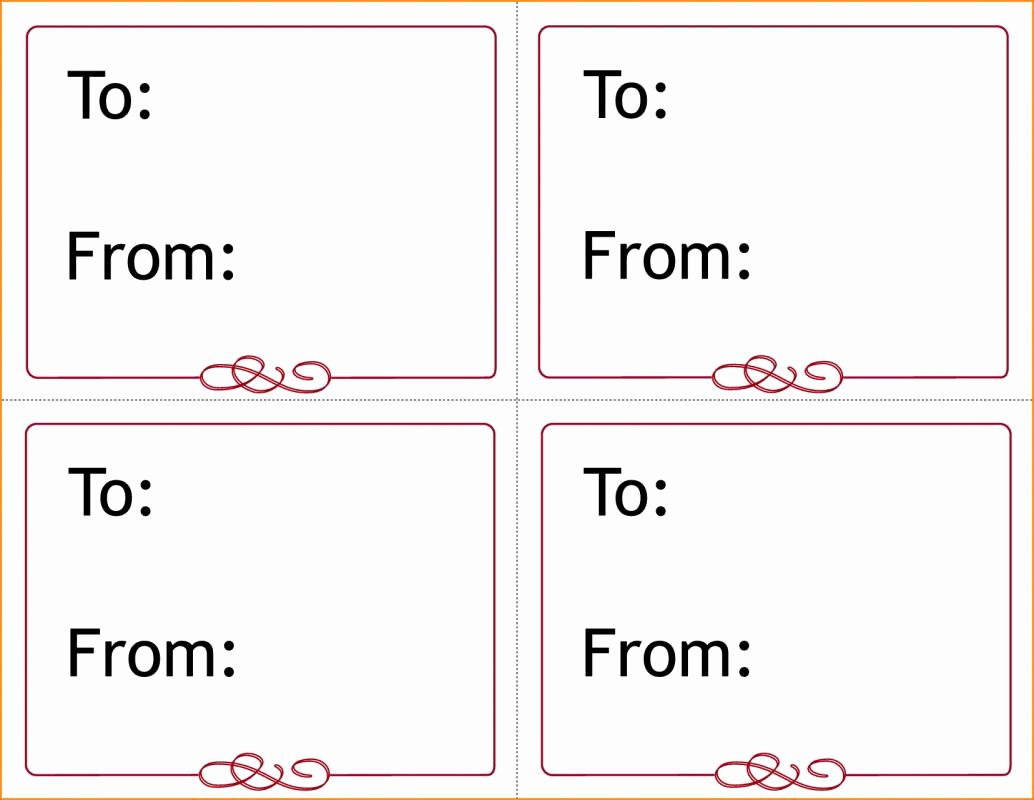 Gift Tag Template Microsoft Word Lovely Gift Tag Template Word