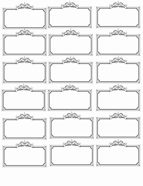 Gift Tag Template Microsoft Word Lovely Name Tag Template Bridal Shower Wedding