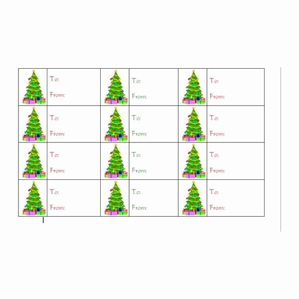 Gift Tag Template Microsoft Word New How to Create Christmas Tree Gift Tags In Word