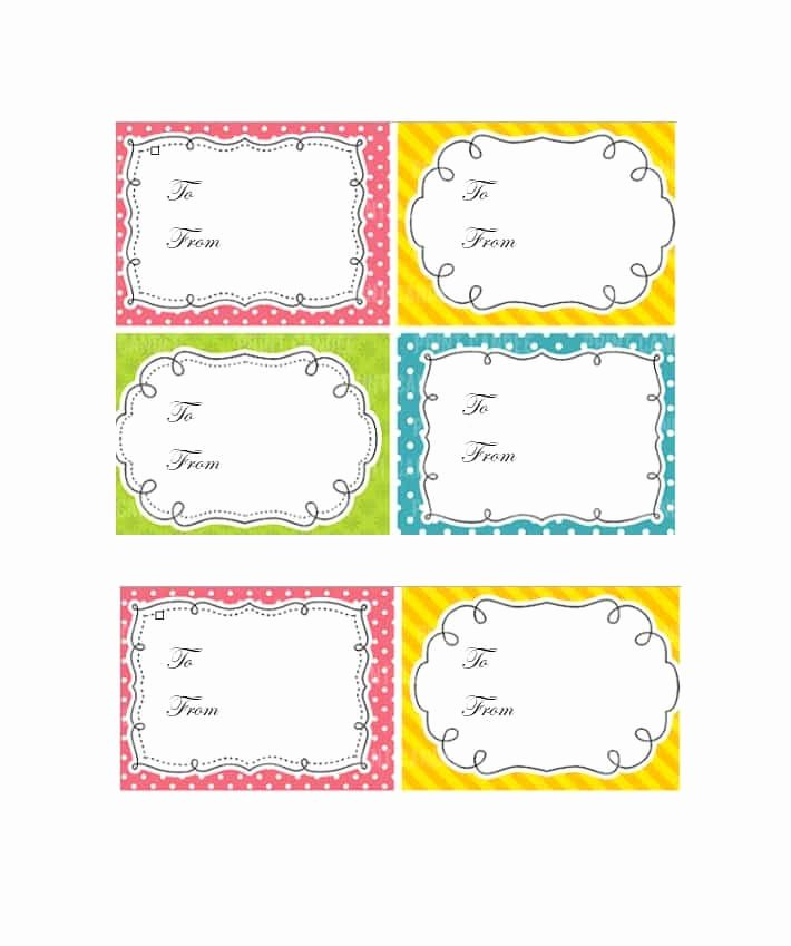 Gift Tag Template Word Beautiful 44 Free Printable Gift Tag Templates Template Lab