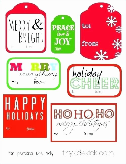 Gift Tag Template Word Lovely Merry Christmas Tags Template