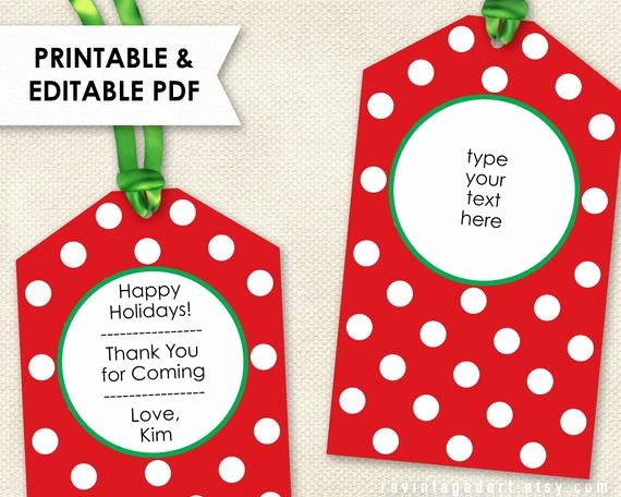 Gift Tag Template Word Lovely Printable Christmas Tags Editable Holiday Tags Pdf