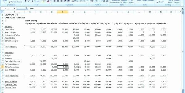 Global Cash Flow Template Unique Cash Flow Analysis Template Excel Month Statement Global