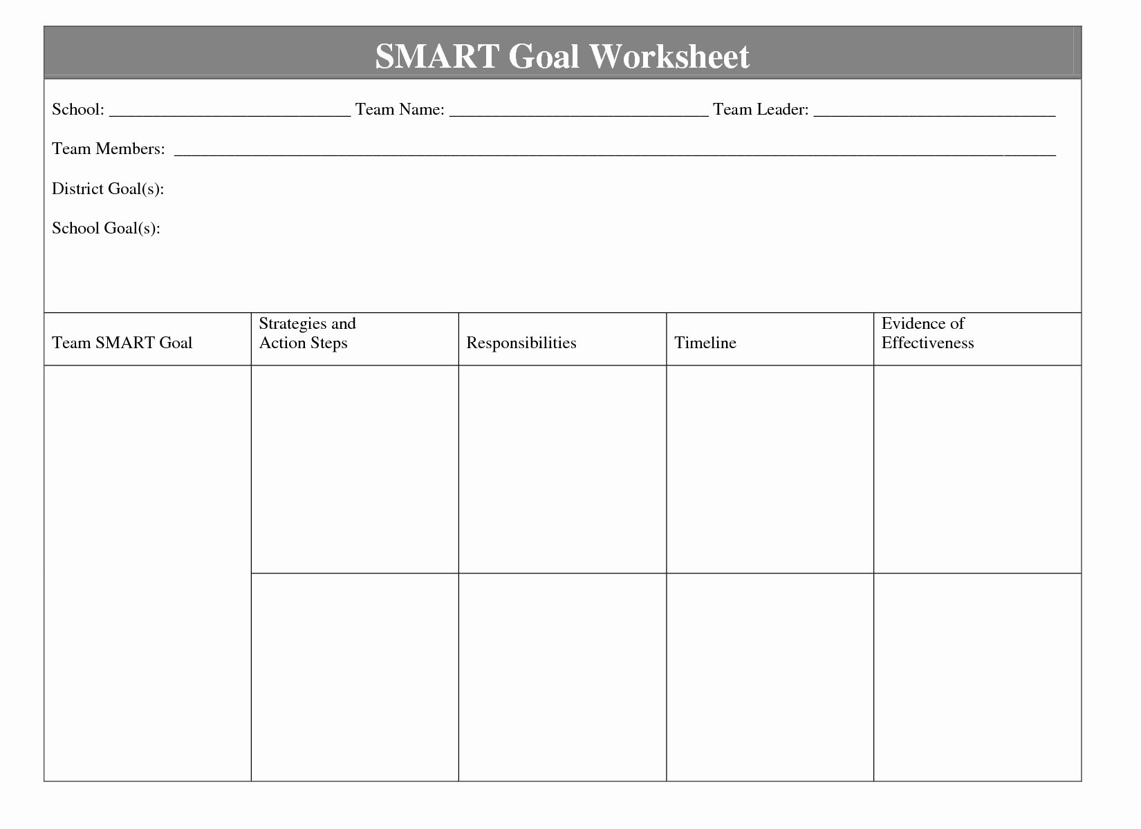 Goal Setting Worksheet Template Awesome 4 Best Of Smart Goals Worksheet Printable Smart