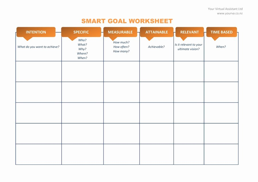Goal Setting Worksheet Template Awesome 48 Smart Goals Templates Examples & Worksheets Template Lab
