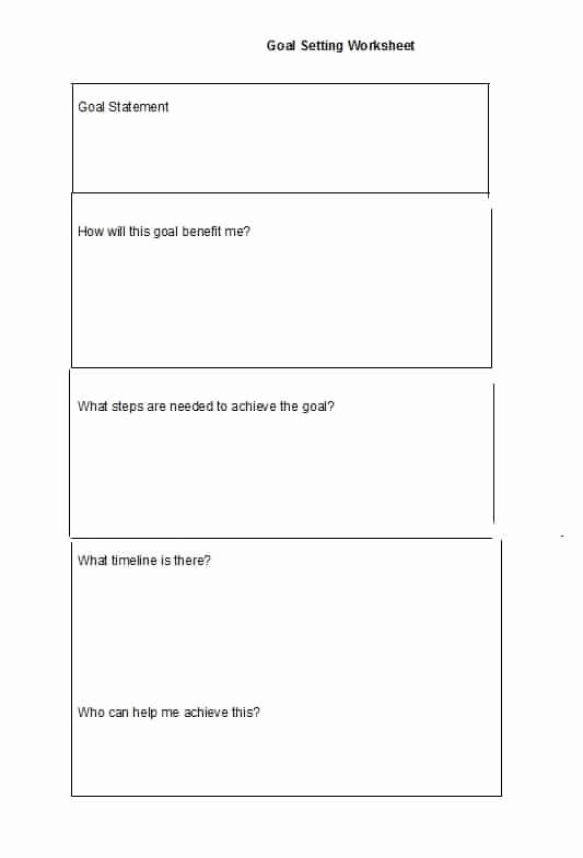 Goal Setting Worksheet Template Beautiful 41 S M A R T Goal Setting Templates & Worksheets