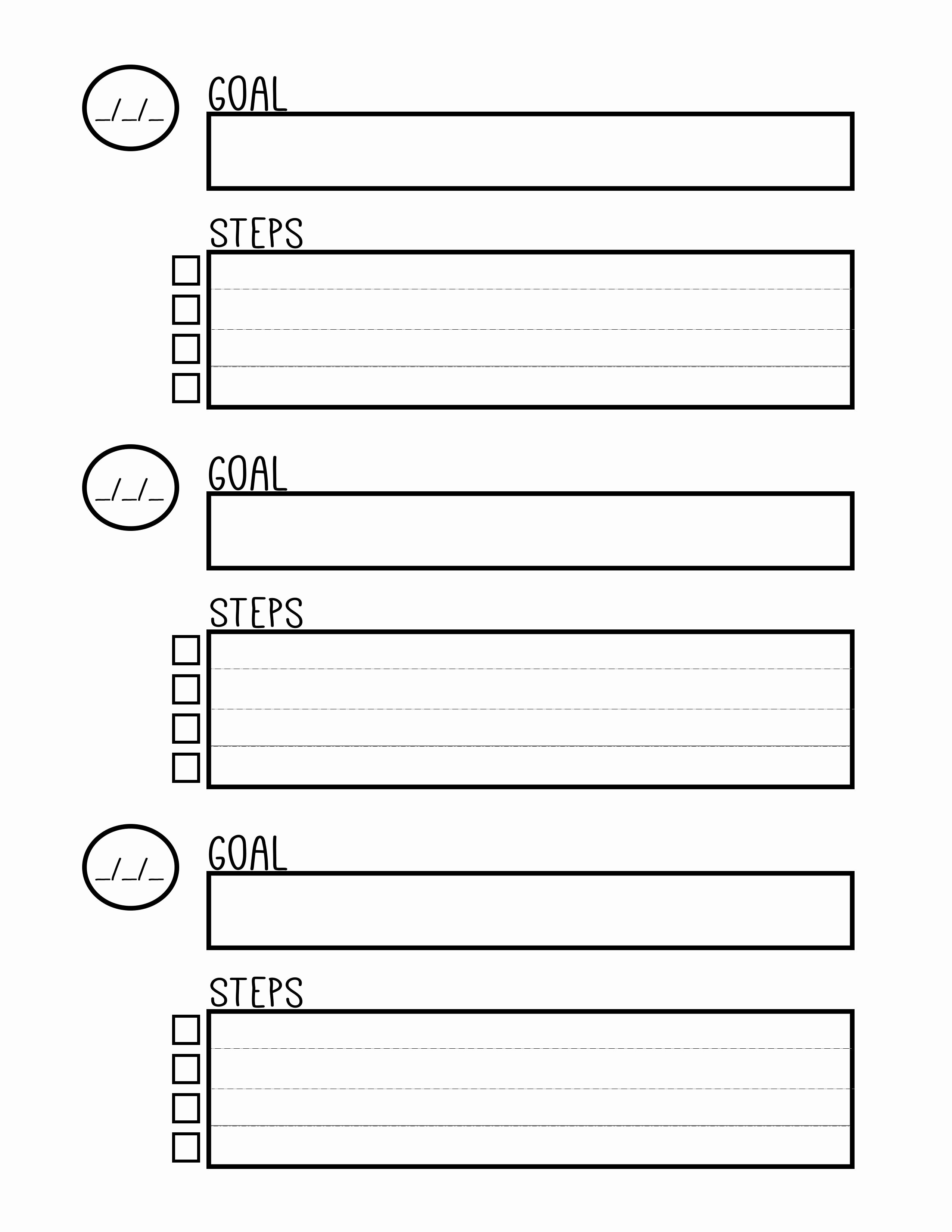 Goal Setting Worksheet Template Beautiful Free Printable Goal Setting Worksheet Planner