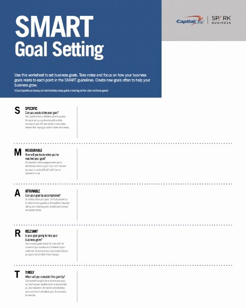Goal Setting Worksheet Template Unique 11 Effective Goal Setting Templates for You
