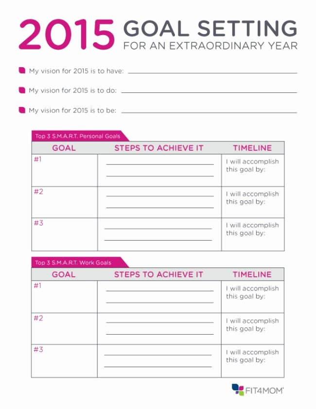 Goal Setting Worksheet Template Unique Here S A Goal Setting Planner You Can Use to Jumpstart
