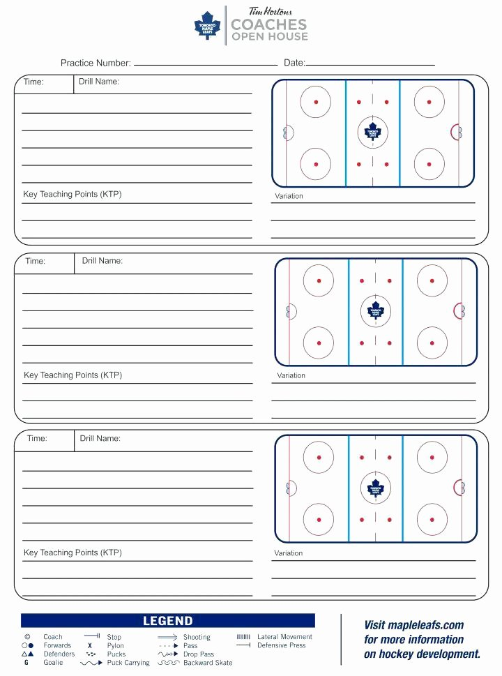 Golf Practice Schedule Template Awesome Practice Schedule Template Blank Hockey Plan New Templates