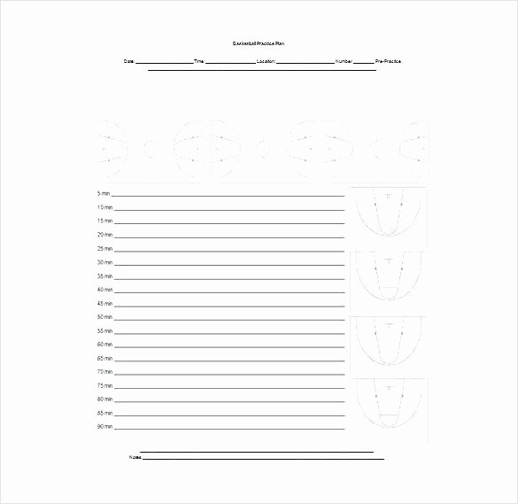 Golf Practice Schedule Template Best Of Basketball Practice Plan Template Excel Sample Worksheet
