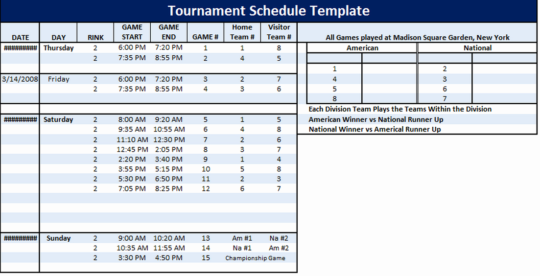 Golf Practice Schedule Template Fresh tournament Schedule Template 6 Free Templates Schedule