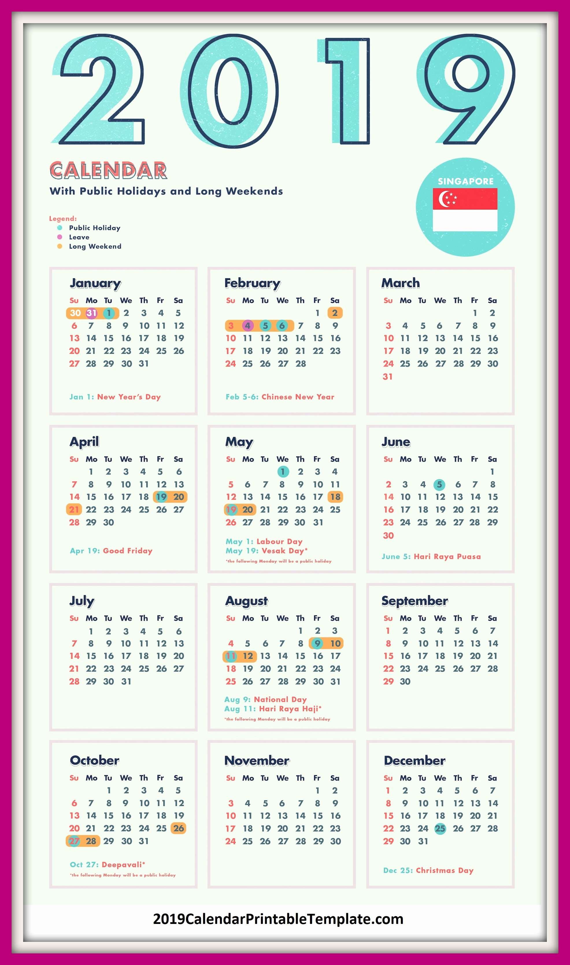 Golf Practice Schedule Template Lovely 2019 Calendar Singapore 2019 Calendar Printable Template