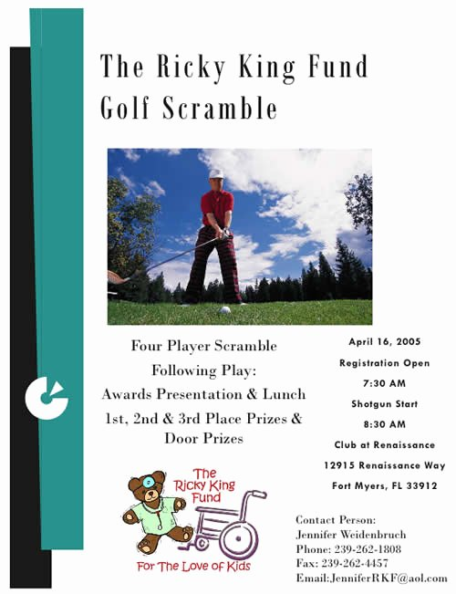 Golf Scramble Flyer Template Awesome Recent News — Ricky King Children S Fund