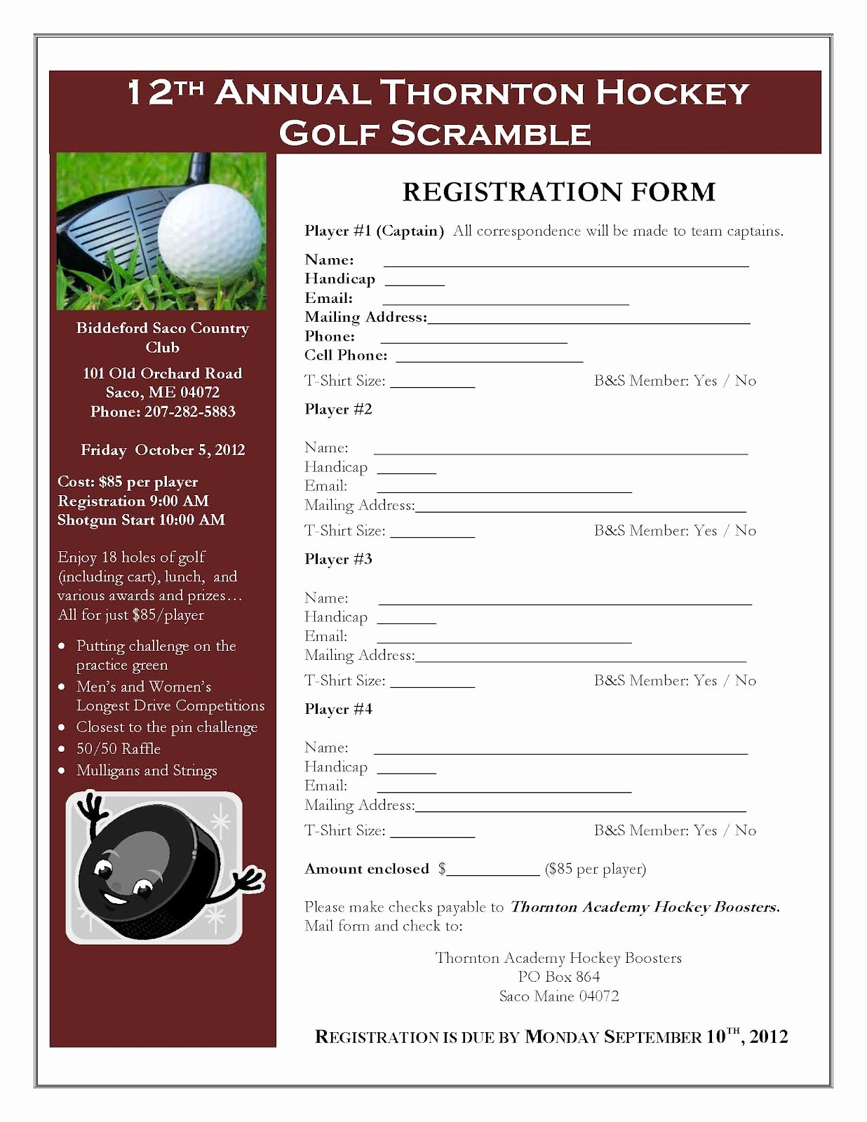 Golf Scramble Flyer Template Beautiful 10 Best Of Registration Flyer Template Baseball