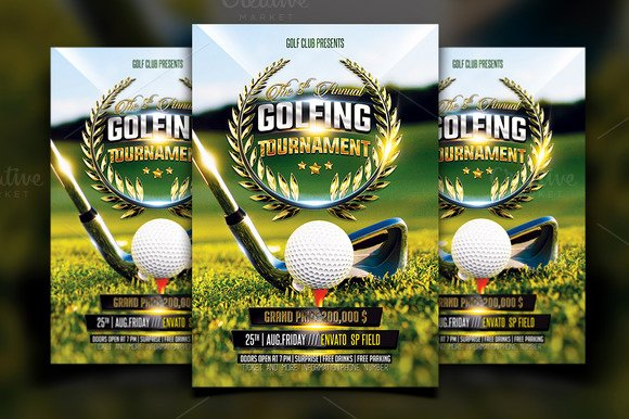 Golf Scramble Flyer Template Beautiful Free Golf Scramble Flyer Template Designtube Creative