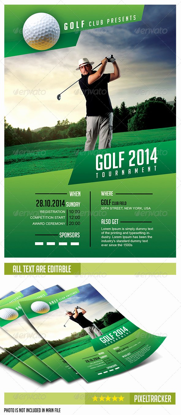 Golf Scramble Flyer Template Best Of Free Golf Scramble Flyer Template Tinkytyler Stock