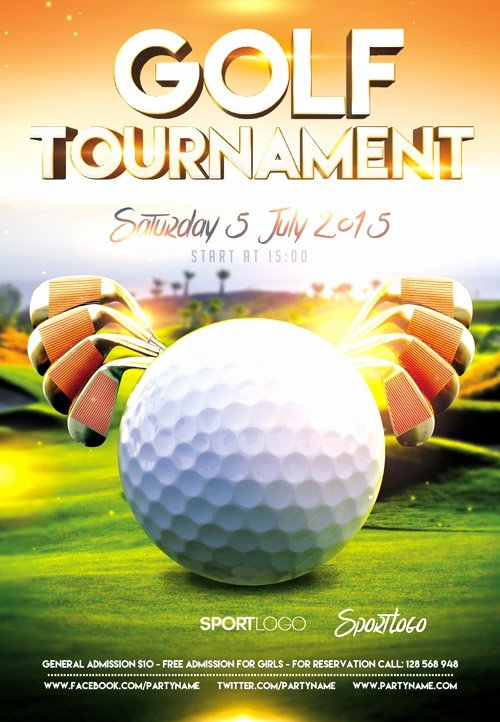 Golf Scramble Flyer Template Elegant Awesome Golf tournament Flyer Psd Kk Gol and Golf